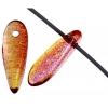 Glass 3X11mm Dagger Yellow/Red Strung Beads